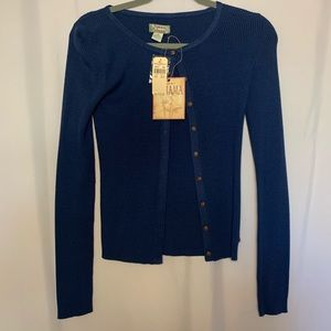 Tommy Bahama blue cardigan sweater xs